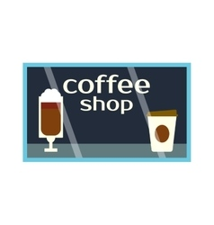 Coffee shop showcase vector