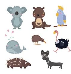 different animals of australia vector image