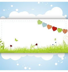 Spring background panel vector image