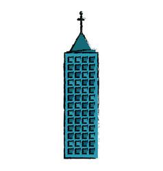 building facade floor icon vector image