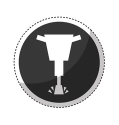 Hydraulic hammer isolated icon vector