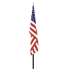 American flag on stand vector