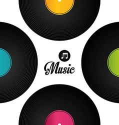 Music digital design vector