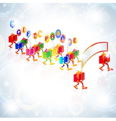 gift parade vector image