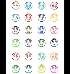 24 smiles icons set 2 vector