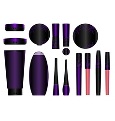 Cosmetics set 4 vector