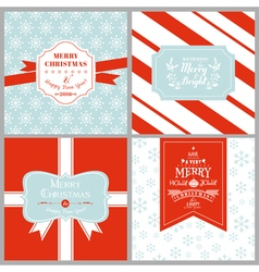 Vintage christmas tags or cards vector