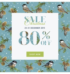 Christmas sale banner with gifts vector