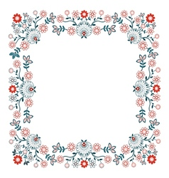 Folk design with flower-7 vector