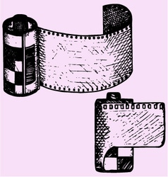 Photo film cartridge vector