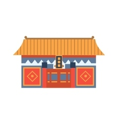 Hung shing temple in hong kong china simplified vector