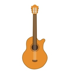 acoustic guitar isolated icon design vector image