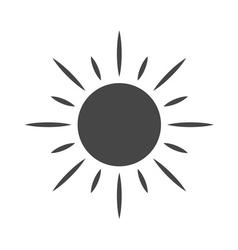 Black design element sun icon vector image vector image