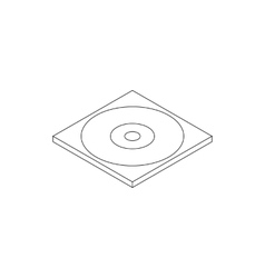 Blank compact disc in a case icon vector
