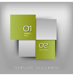 business four squares light green with text vector image vector image