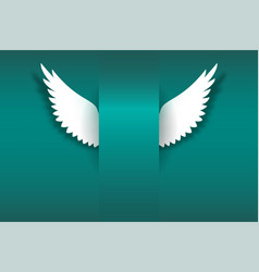 card with angel wings and place for your message vector image vector image