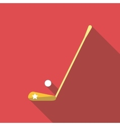 Golf club and a ball icon flat style vector image