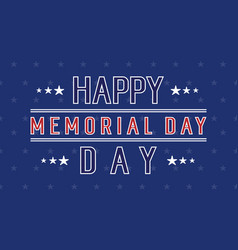 Happy memorial day background collection vector