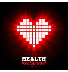 Heart energy health concept vector