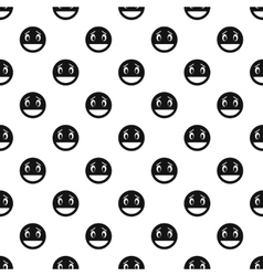 Laughing smiley face pattern simple style vector