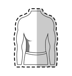 Male torso fit body icon image vector