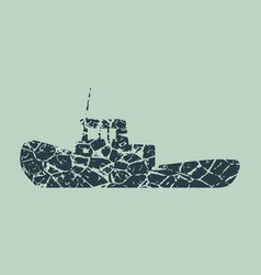 Marine tug icon vector