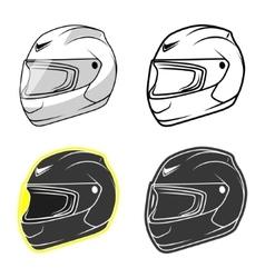 Motorbike helmet vector image