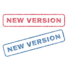 new version textile stamps vector image vector image
