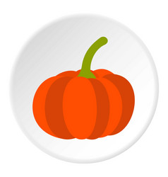 Pumpkin icon circle vector