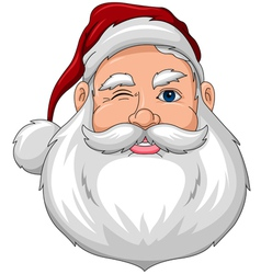 Santa Wink Face Front vector image