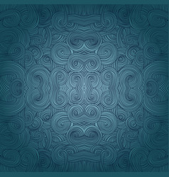 seamless hand-drawn pattern waves background vector image vector image