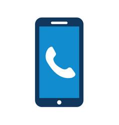 smartphone customer service online help assistance vector image