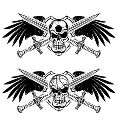 Soccer basketball skulls vector