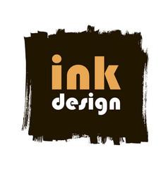 spot ink grunge square banner vector image