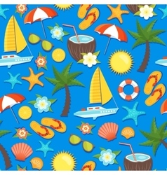 Summer Vacation Seamless Pattern vector image vector image