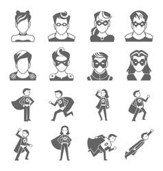 Super hero icon vector image vector image