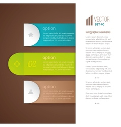 Three numbered tabs with descriptions vector image vector image