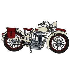 Vintage white motorcycle vector