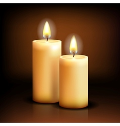 Isolated candles vector