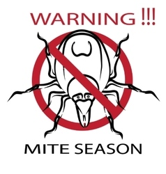 Symbol parasite warning sign ticks be careful vector