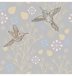 seamless Background with birds vector image