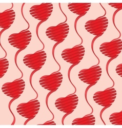 Heart origami background vector