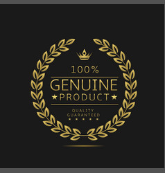 Genuine product label vector