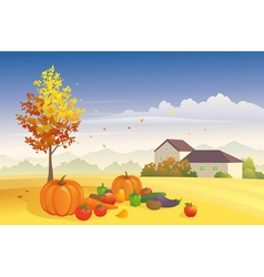 Harvest time vector