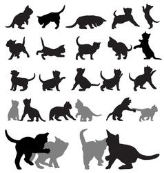 Kitten silhouettes vector