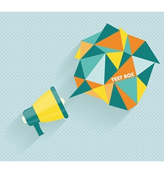Flat icon of megaphone with bubble speech vector