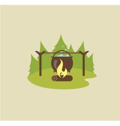 Camp fire vector