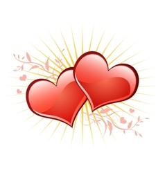 Valentine background wiht heart vector image
