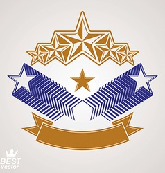 Stylized royal symbol aristocratic graphic emblem vector