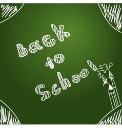 Back to school start of new school year eps 10 vector